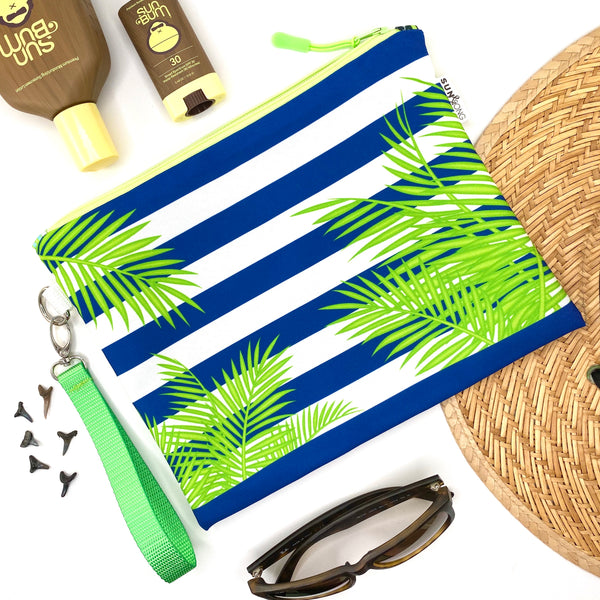 Palm Fronds & Stripes Wet Bag