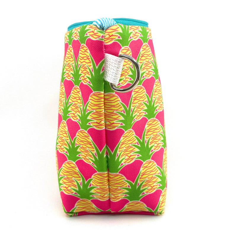 Pink Aloha Pineapples Makeup Bag