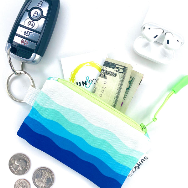 Blue Waves Key Chain Wallet