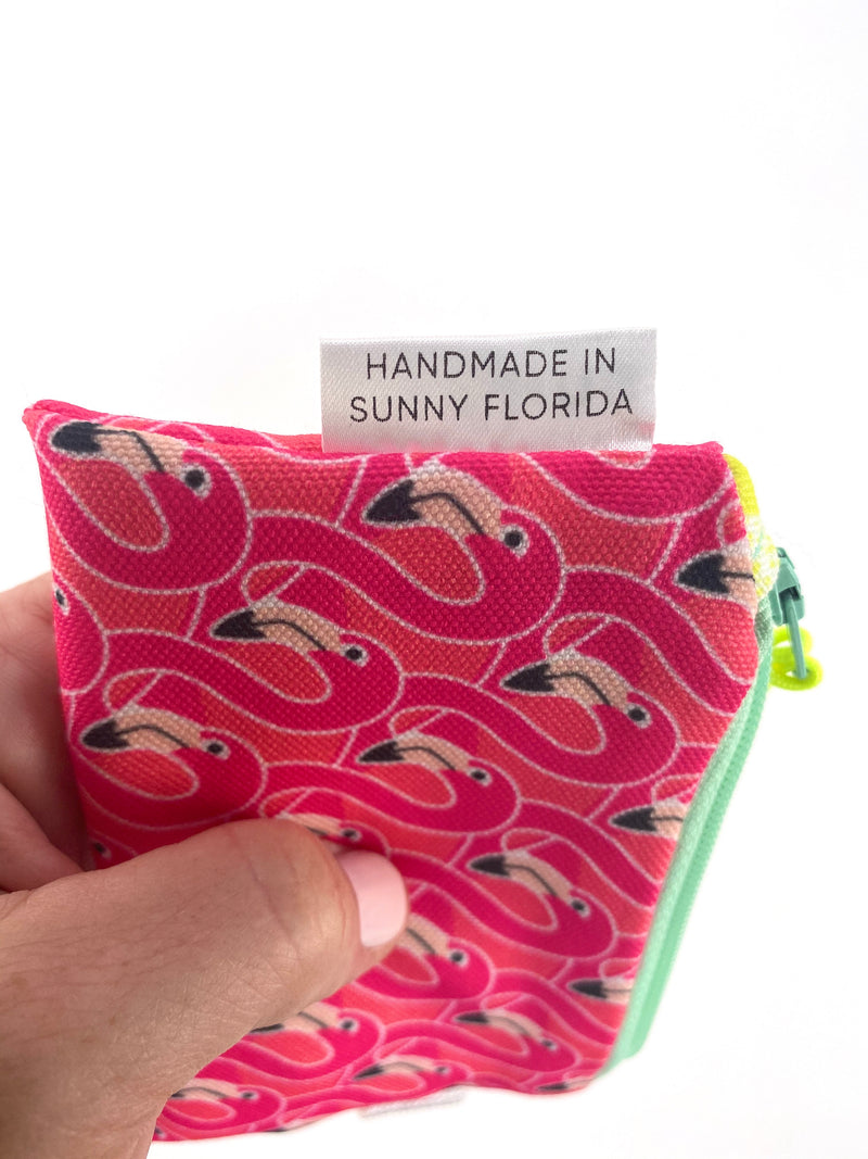 Pink Flamingos Key Chain Wallet