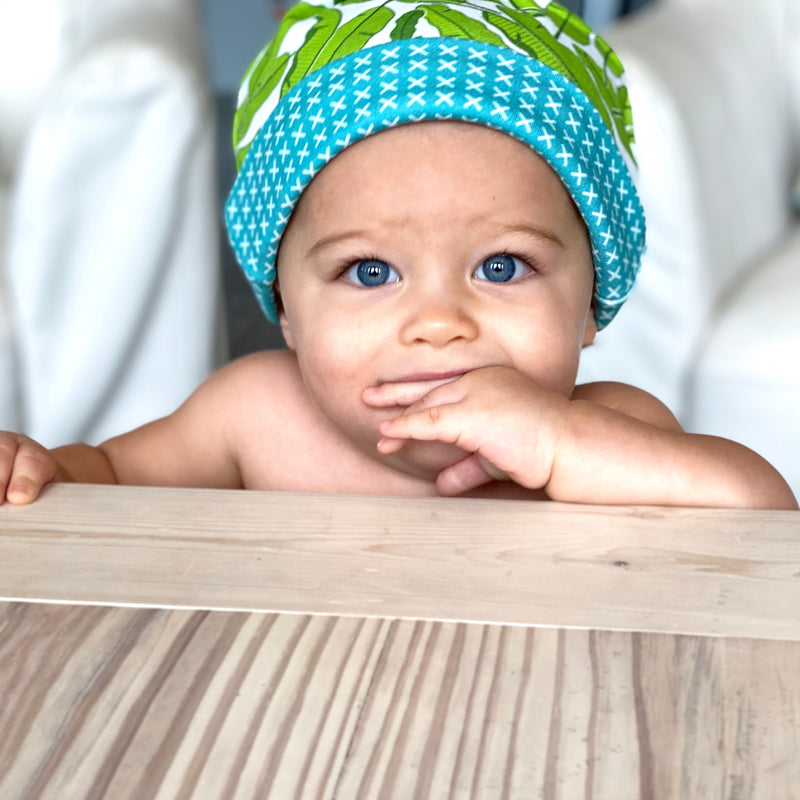Banana Leaves Organic Cotton Knit Baby Hat