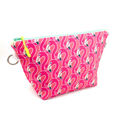 pink flamingo waterproof makeup bag