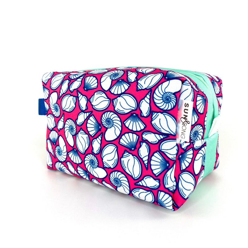 Pink Seashells Boxy Toiletry Bag
