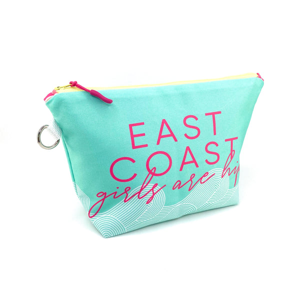 east coast girls waterproof makeup pouch
