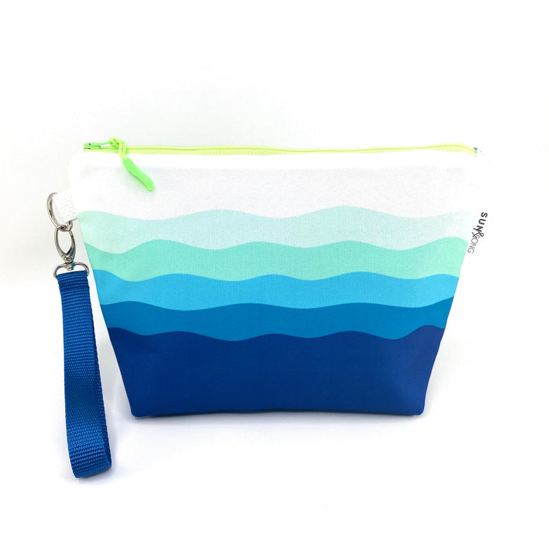Blue Waves Makeup Bag