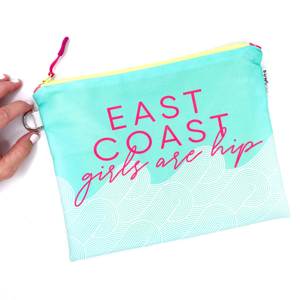 east coast girls are hip waterproof wet bikini bag