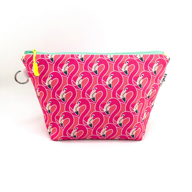 Pink Flamingos Makeup Bag