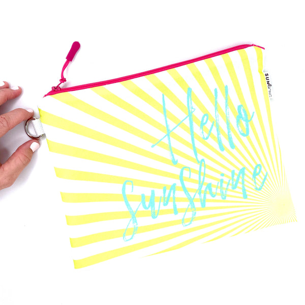 hello sunshine waterproof wet bag
