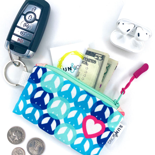 Peace & Love Key Chain Wallet