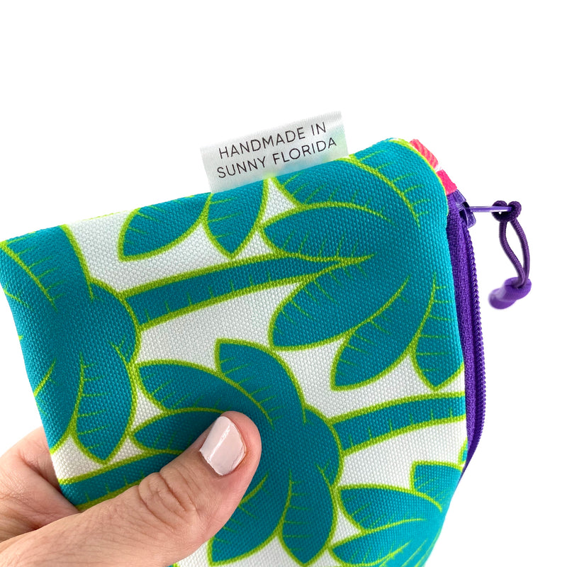 Turquoise Palm Trees Pencil Case