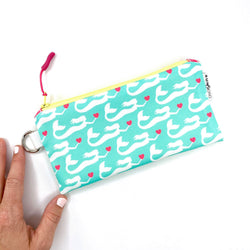 aqua mermaid wristlet clutch gift for sister