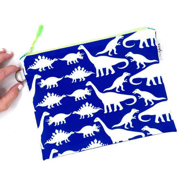 bkue dinosaurs waterprood zipper pouch