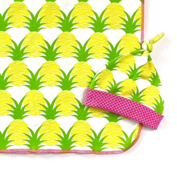 aloha pineapplea newborn baby blanket gift set
