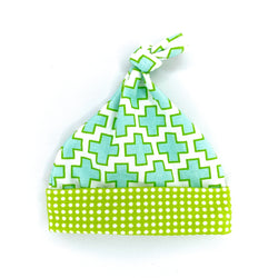 green and blue swiss cross modern baby shower gift