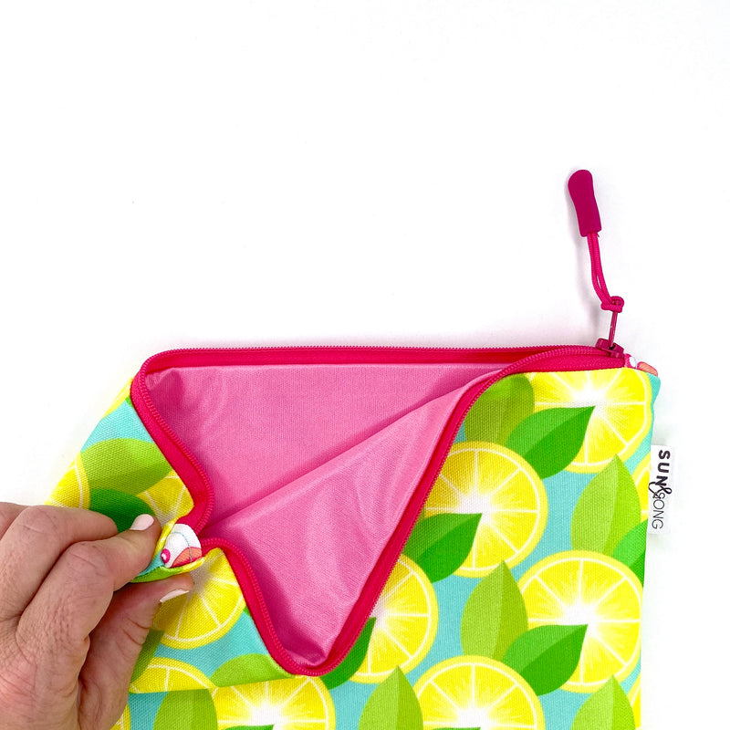 Yellow Lemons Wet Bag