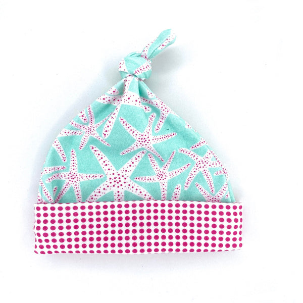 pink and aqua starfish beach baby shower gift