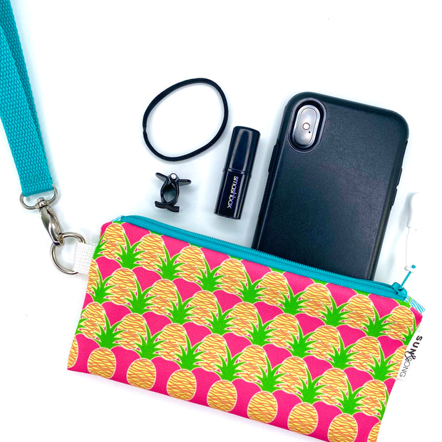 Pink Aloha Pineapples Pencil Case 1