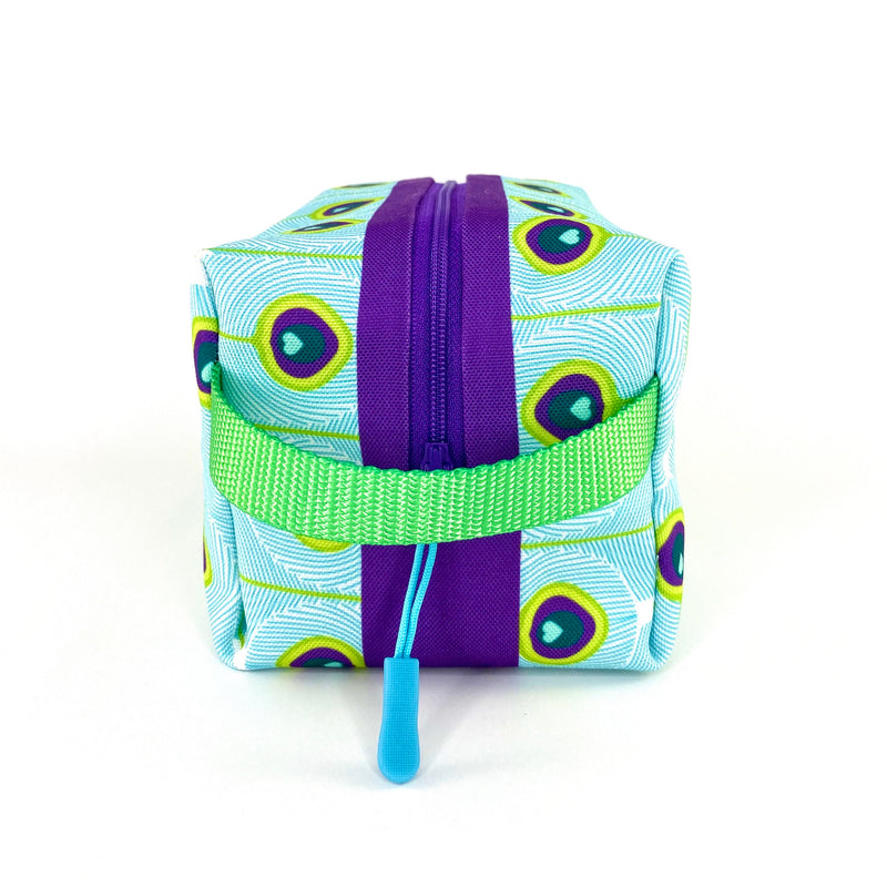 Peacock Feathers Boxy Toiletry Bag