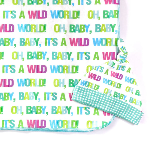 wild world organic cotton gender neutral swaddle blanket