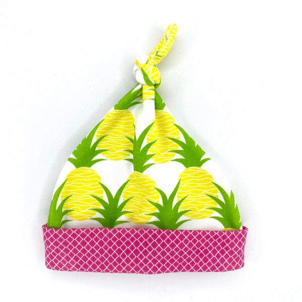 aloha pineapples baby girl hat