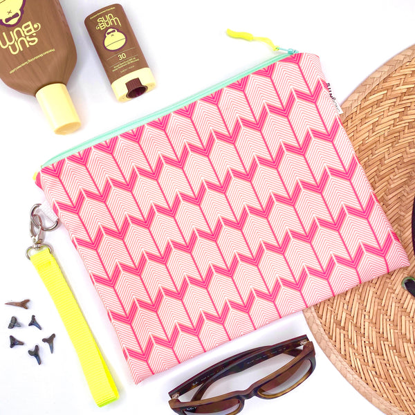 Pink Chevron Arrows Wet Bag