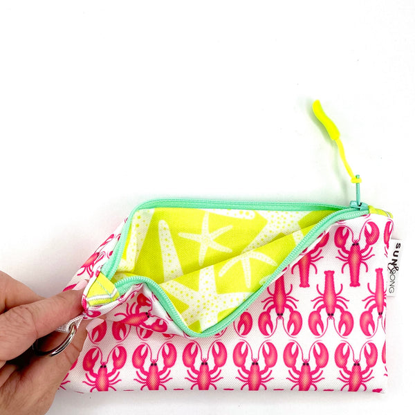 Pink Lobsters Pencil Case