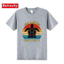Load image into Gallery viewer, Men's Skip A Straw Save A Turtle T Shirt