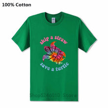 Load image into Gallery viewer, Men's Skip A Straw Save A Turtle TiDi T-shirt