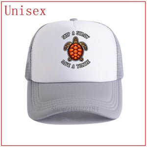 Skip A Straw Save A Turtle Hat - Adult & Kids Size available