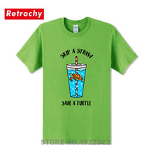 Load image into Gallery viewer, Mens Skip A Straw Save A Turtle T Shirt