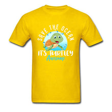Load image into Gallery viewer, Save The Ocean Turtley Awesome Graphic T Shirt (Unisex)