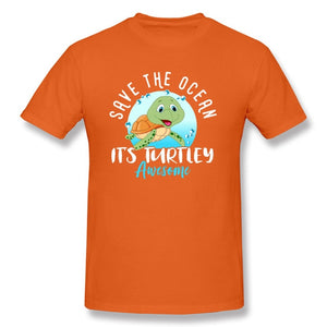 Save The Ocean Turtley Awesome Graphic T Shirt (Unisex)