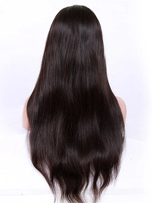Virgin Human Hair Glueless Lace Front Lace Front Wig style Brazilian Hair Straight Wig 130% 150% 180% Density with Baby Hair