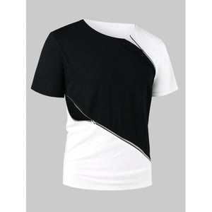 Mens Round Neck Short Sleeve Casual Cotton Tee Shirt
