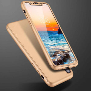 Shockproof Anti-knock Full Cover 360 Hard Thin Tempered Glass For Apple iPhones