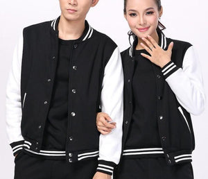 Unisex Baseball Jacket in Black