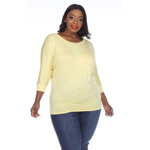 Women's Plus Size Bat Sleeve Tunic Top by Whitemark