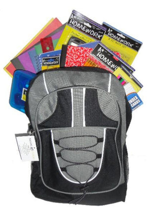 "17""  Pre-Filled Bungee Backpack"