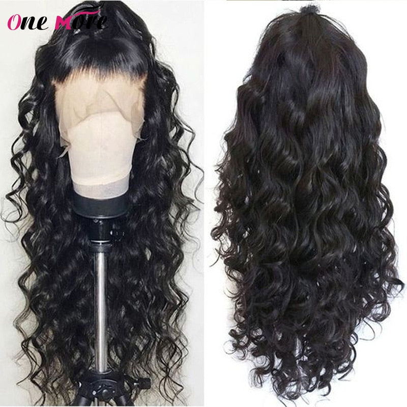 Brazilian Loose Deep Wave Lace Front Human Hair Wigs For Black Women 150 Density 13x4 Lace Front Wig Pre Plucked Natural Wig