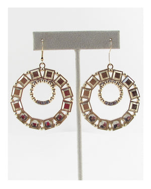 Crop circle earring