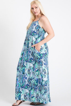 One Side Slit Cami Maxi Dress