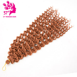 Dream ice's Deep Wave Pre-loop Synthetic Crochet Braid Hair Twists Braiding Hair Extension 20inch 80G