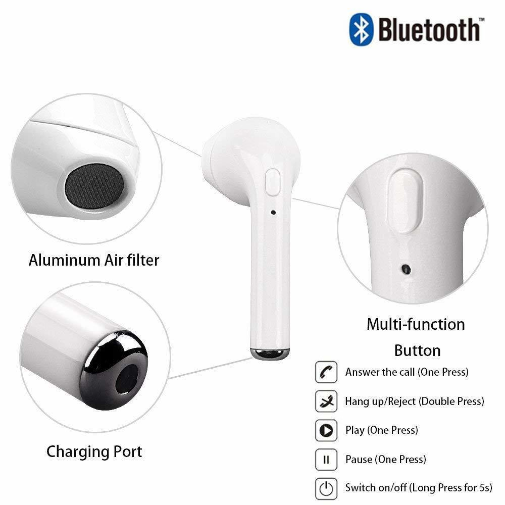 I7s Tws Earphone Bluetooth V5.0 Wireless Earbuds  Portable Painless Headphone With Charging Case Ture Stereo FOR Iphone Huawei