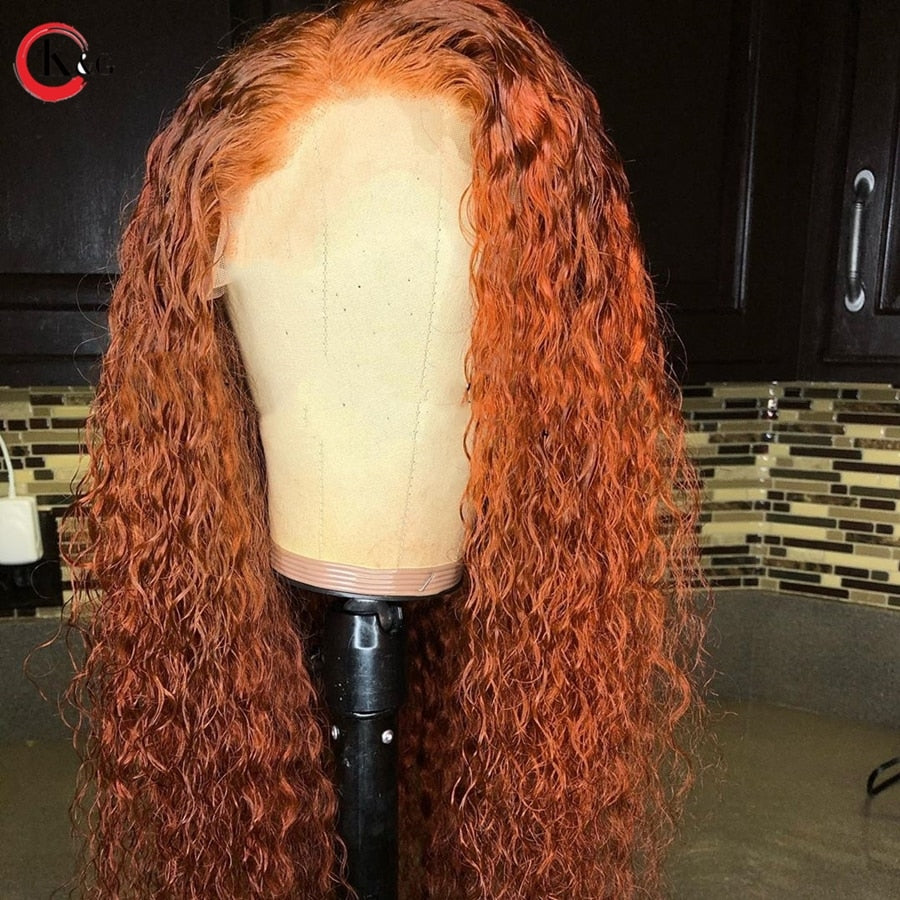 "KungGang 13*4 Lace Front Human Hair 8""-24\"" Wigs With Baby Hair  Brazilian Non-Remy Middle Ratio  Lace Wigs"