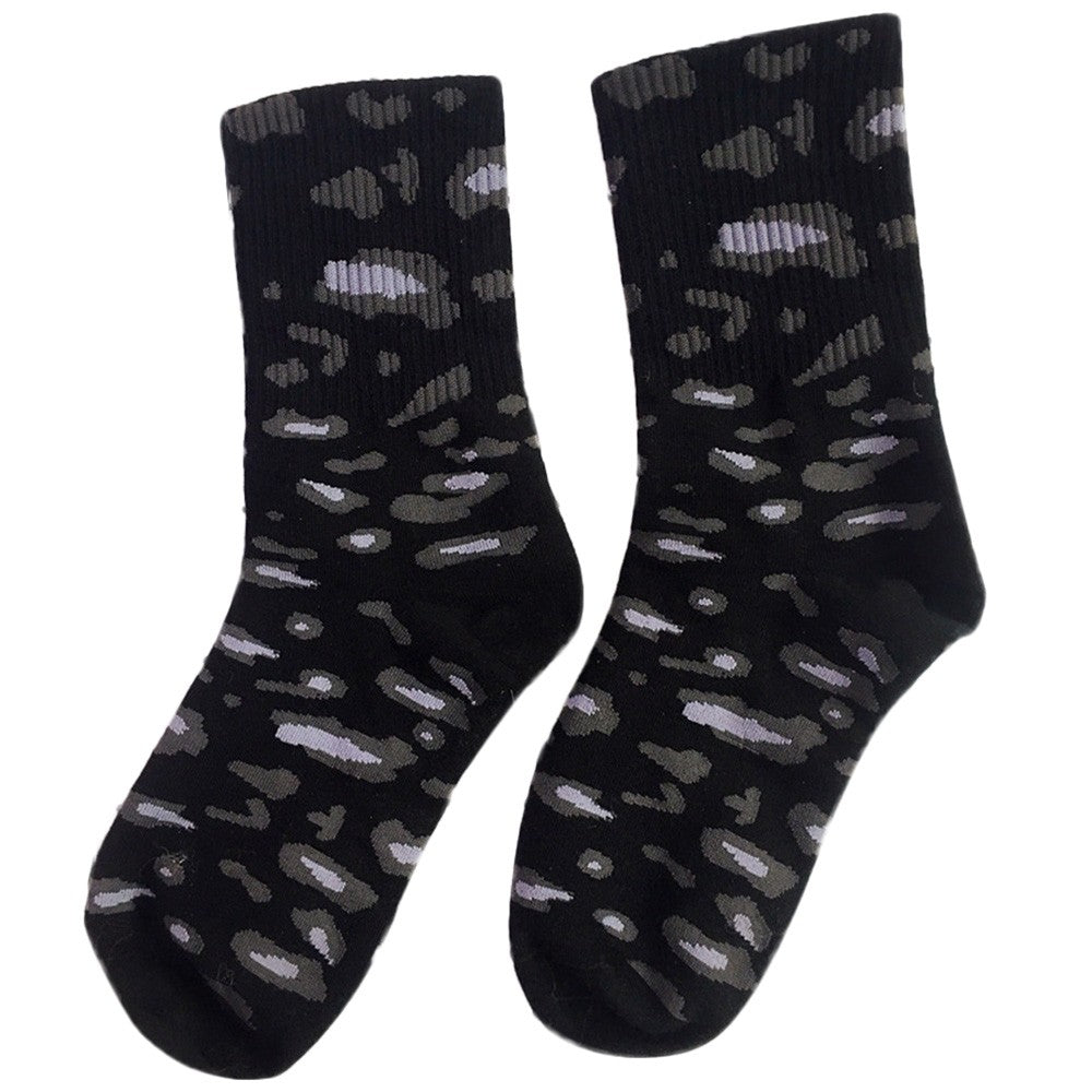 New Fashion Leopard Print Unisex Cotton Warm Socks