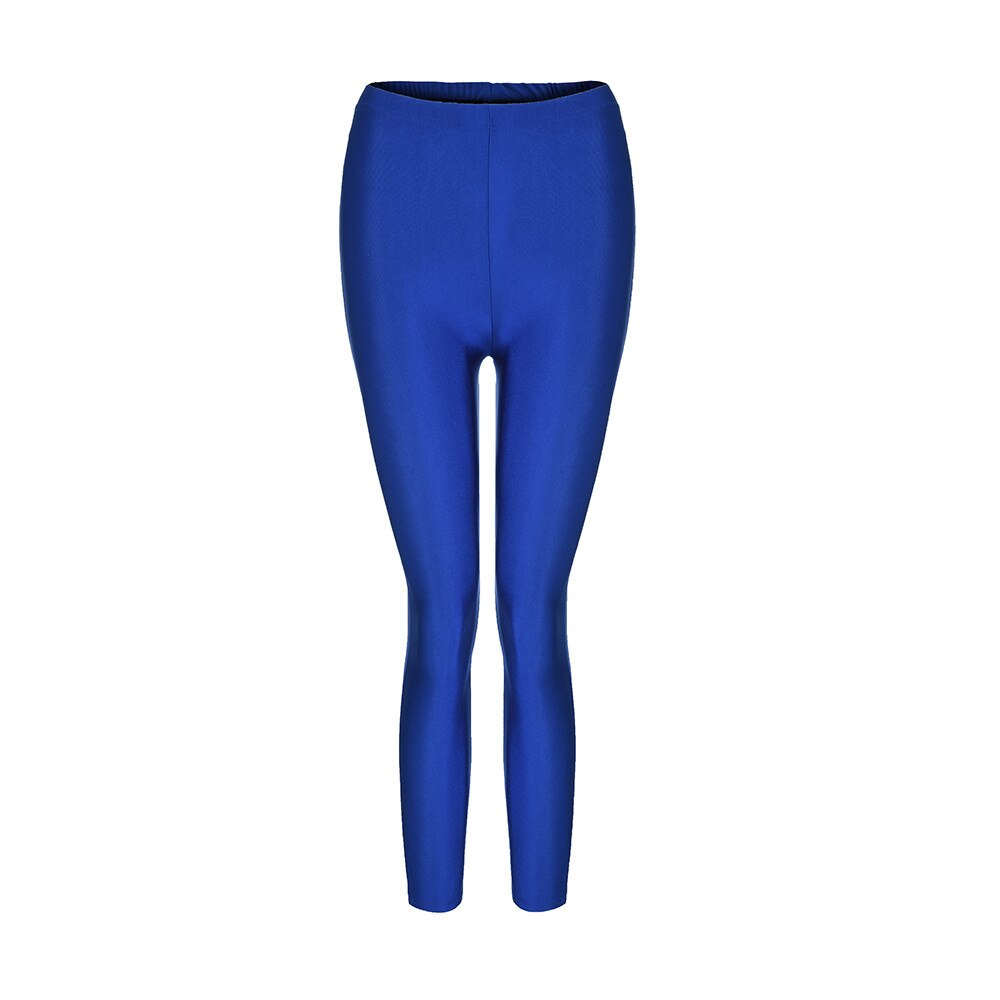 Women Full Length Flat Skinny Fit Polyester Solid Casual Fitness Pencil Pants