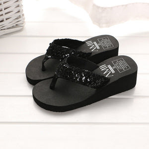 Women's Sequins Anti-Slip Slipper Used for Outdoor Flip-flops