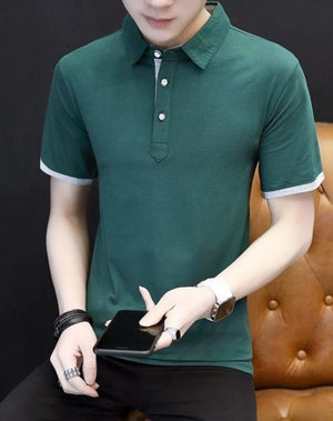 Mens Slim Fit Short Sleeve Polo Shirt