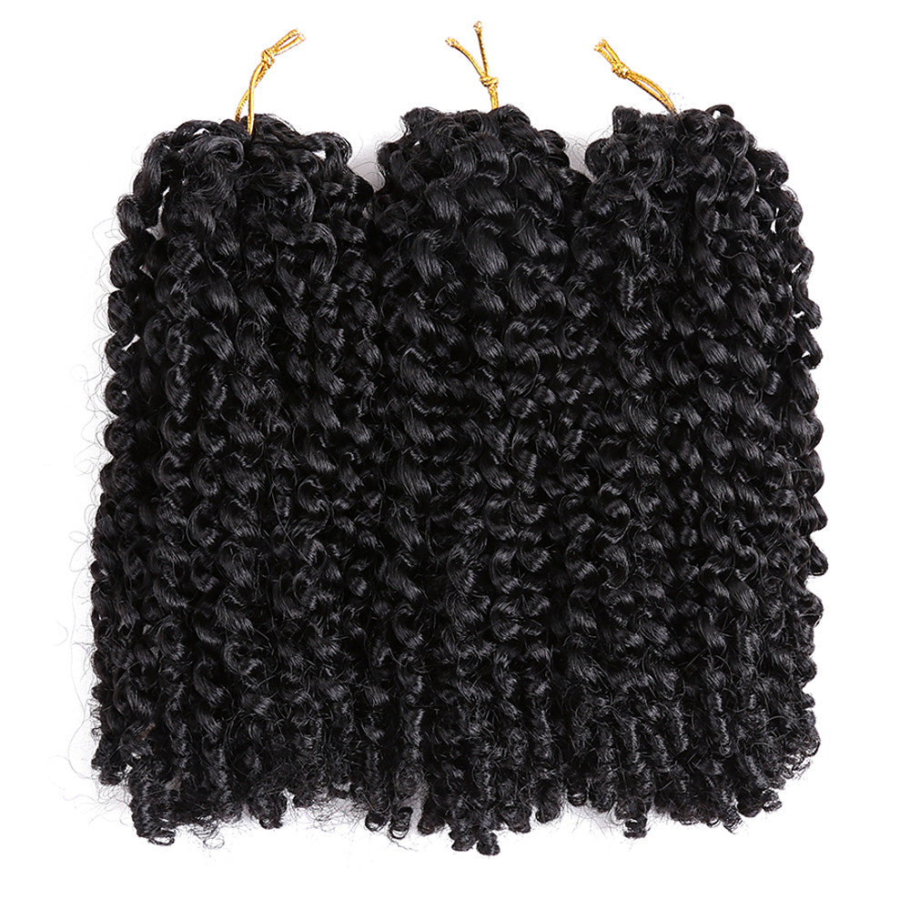 Braiding Hair Curly / Crochet Curly Braids / Hair Braids 100% kanekalon hair / Kanekalon 60 roots / pack, 3pcs / pack Hair Braids Blonde / Auburn 8 inch Short Event / Party