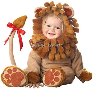 New Infant Toddler Baby Boys Girls Male Lion Christmas Costume Halloween Dress up Cosplay Outfits Purim Holiday Costume